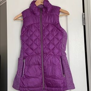 Lululemon 'down for it all' vest size 4